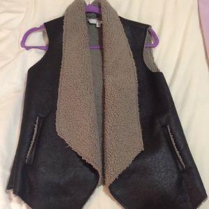 Faux Fur and Leather Vest